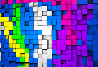 3d fototapeta Cube background 24852