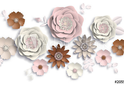 3d fototapeta Summer flowers 205514857