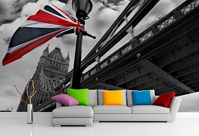 Fototapeta London Tower bridge with British flag 24287