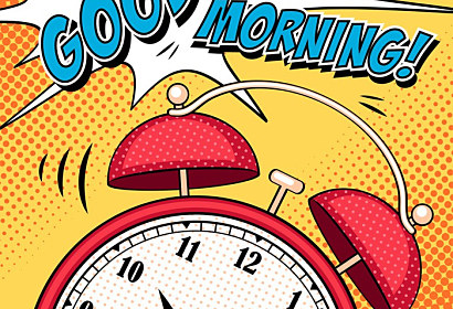 Fototapeta styl Pop art Alarm Clock Good morning ft-99919763