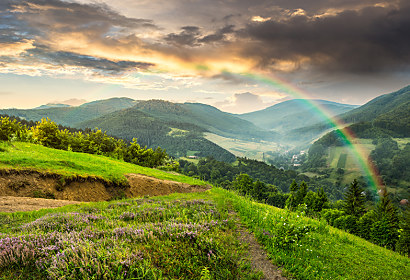 Fototapeta Landscape with rainbow 24815