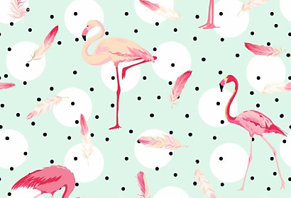 Tapeta Tropical Flamingo ft-111778176